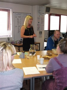 Picture of Helen Delivering Training